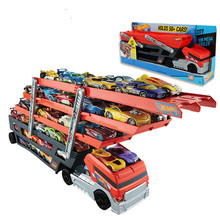 Heavy Transport Vehicles CKC09 6 Layer Small Car Toy Scalable Storage Transporter Truck Boy Educational Toy(China)
