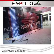 Warranty indoor LED Screen China Sexy Video Curtain Led Display Wall(China)