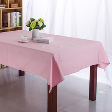 Solid Color Orange Pink Blue RoseRed Dining Tablecloth Canvas Cotton Table Cloth Picnic Outdoor Coffee Party Wedding Table Cover(China)