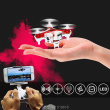4-2.4 GHz Free shipping toys Quadcopter CH 6 - Axis Gyro equipped with camera RC Aircraft VS Hubsan LED RC Helicopter RTF gift