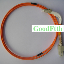 Fiber Patch Cord SC-LC Bending boot 90 degrees multimode 62.5/125 Simplex 3mm 2m(China)
