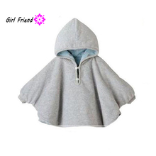 2017 Fashion Baby Coats boys Girl's Smocks Outwear Fleece cloak Jumpers mantle Children's clothing Poncho Cape