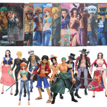 10pcs EMS Box VAH Variable Luffy Ace Zoro Sabo Nami Robin Mihawk Action Figure One Piece Collectible Model Dolls brinqudoes