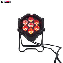 LED Par Can 7x12W Aluminum alloy LED Par RGBW 4in1 DMX512 Wash dj stage light disco party light Dj Lighting