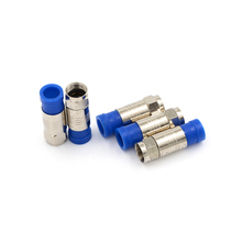 5pcs/lot Coaxial Connector Coax Compression Fitting F Connectors RG6 Cable Connect