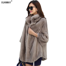 Autumn and winter new Women fake fur coat In the long section Fashion high-end Thick thermal insulation of artificial fur coat