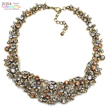 2017 z necklaces fashion party chunky luxury choker metal pendants necklace statement jewelry wholesale for women(China)