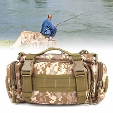 Canvas Fishing Bags New Multi-function Fishing Tackle Bag Waterproof Waist Fishing Lure Bag S06_15