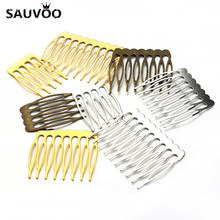 10pcs/lot Antique Gold/Rhodium/Bronze Color Bridal Hairpins Hair Combs Accesorio Pelo Alambre for Wedding Hair Pins Accessories(China)