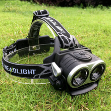 K77A Headlamp XML 2T6 3 Mode LED Headlight Led USB Power bank Rechargeable Hunting Head Light 18650 Charge