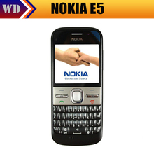 Fast Free Shipping Original Nokia E5 Mobile Phones Camera 5MP Unlocked E5 3G Cellphone Russian keyboard+ Russian Languge