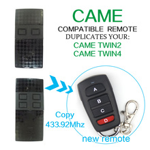 CAME remote control CAME TWIN2 CAME TWIN4 smart universal remote control duplicator 433.92mhz garage door remote control(China)
