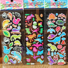 5Pcs Random Style Funny 3D Cartoon Dinosaur PVC Bubble Stickers Birthday Gift Children Toys Notebook Album Memo Stickers