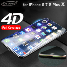 LEWEI 3D Curved Edge 4D Full Cover Tempered Glass for iPhone 7 8 X 6 6S Plus Premium Screen Glass Protective COLD CARVING(China)