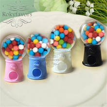 FREE SHIPPING 12pcs Cute Mini Candy Gumball Dispenser Kids Toy Vending Machine Saving Coin Bank Sweet Table Decors