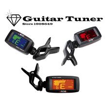 Aroma AT-200D Portable Guitar Tuner Color Screen Digital Tuner Clip On Design for Chromatic Guitar Bass Ukulele Violin(China)
