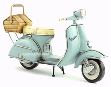 Brand New Motorbike Model Toys 1965 Italy VESPA Handmade Metal Artefact Motorcycle Model Toy For Collection/Decoration/Gift(China)