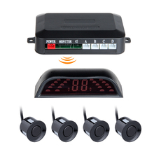 auto car parking reversing 4sensors wireless parking sensor system  sensor de estacionamento parktronic Radar Detector System