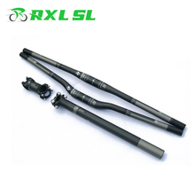 RXL SL Cycling Bicycle Handlebars Mountain Bike Handlebar Carbon Mtb 3K Matte Stem+Seatpost+Flat/Riser Handlebars(China)
