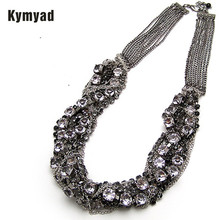 Buy Kymyad Necklace Korean Multi layer Chain Necklaces Women Jewelry Crystal Necklaces Pendants Big Chunky Statement Necklaces for $4.74 in AliExpress store