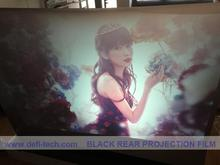 2m* 1.524m Magic rear projection  screen hologram film black color  for store glass window