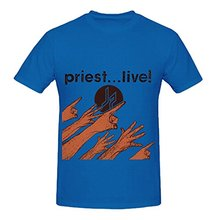 Judas Priest Live Soul Mens Round Neck Digital Printed Tee Shirts(China)