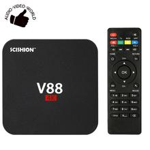 V88 Smart Android 6.0 TV Box RK3229 Quad Core 16.1 UHD 4K 1G / 8G Mini PC WiFi H.265 HD Media Player(China)