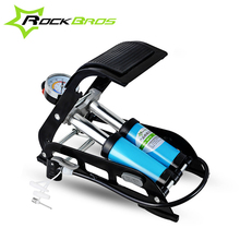 ROCKBROS High Pressure Tire Air Inflatable Pump Foot Inflator With Gauge For Car Vehicle Motorcycle Inflator Mountain Bike