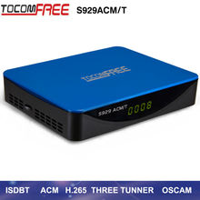 2017 Converter digital TOCOMFREE S929 ACM/T + 1 PC adaptador Wi-fi Full HD Receptor satellite  Digital DVB-S2 for Latin America