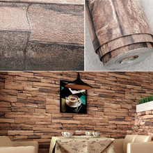 4colors 3D Wall Paper Vintage Faux Stone Brick Wallpaper Removable Brick Wall Pattern Wallpaper Home Decor for Kids Room
