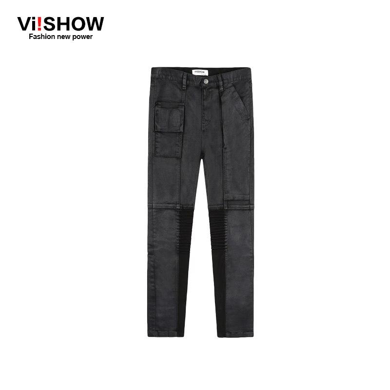 VIISHOW full length Jeans Men Designer Straight Denim Jeans Men Pants Pocket zipper fly Jeans Hip Hop Jeans Men 28~35 N155153Îäåæäà è àêñåññóàðû<br><br>