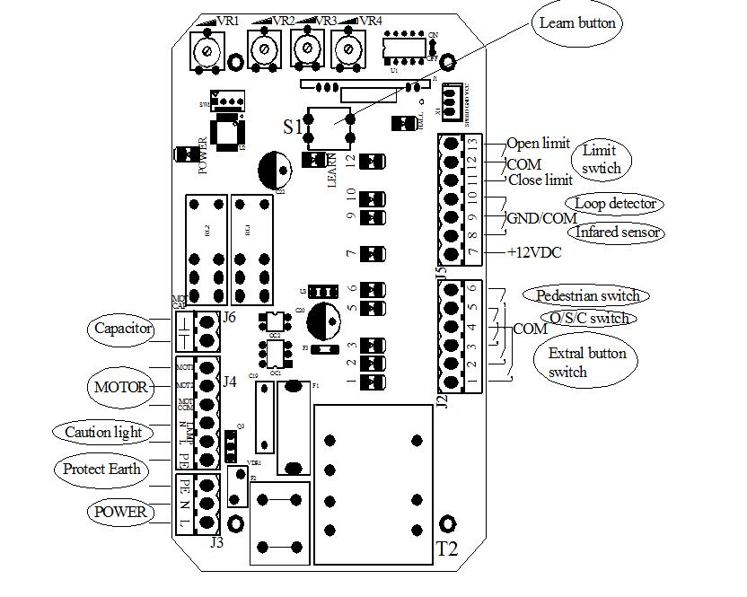 Wiring Diagram For Py800Ac (L) Gate Opener from ae01.alicdn.com