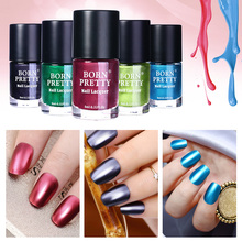 BORN PRETTY 9ml Gorgeous Metallic Lacquer Nail Polish Mirror Effect Red Blue Green Shiny Metal Nail Varnish Manicure 10 Colors(China)