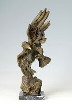 ATLIE BRONZE Bronze Antiques HAWK sculpture Eagle brass statue Home Decoration arts collection business gifts(China)