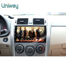 uniway 2G+16G 1 din android car dvd player for toyota corolla  2007 2008 2011 car radio gps  with steering wheel navigation