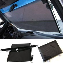 LMoDri Free Shipping New Retractable Car Auto Front Back Windshield Sun Shade Cover Visor Sunshield(China)