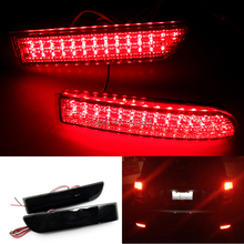 2pcs Black Smoked Lens Bumper Reflector LED Tail Brake Light for Scion xD RAV4 Vanguard(China)