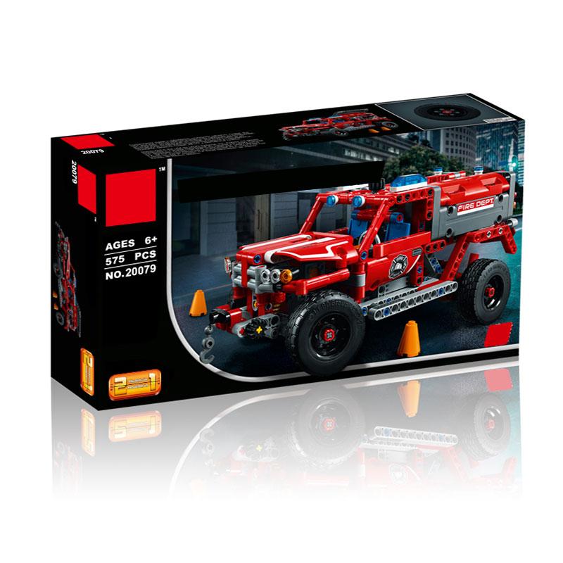 Lepin 20079 New 575Pcs Technic Series The First Responder Set Building Blocks Bricks Educational Toys 42075 For Children Gift<br>