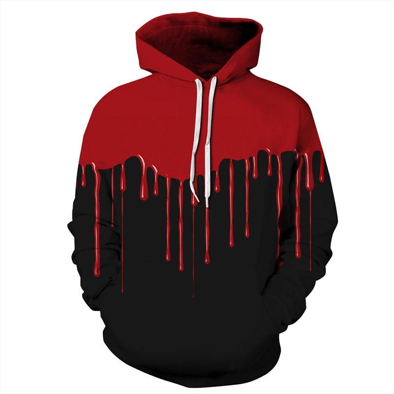 Buy Cheap W-yunna New Autumn 3d Print Hoodies Mens Blood Handprints Design Loose Fashion Moletom Leisure Streetwear Tracksuits At Any Cost Hoodies & Sweatshirts