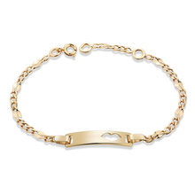 Gold-Color Baby Bracelets & Bangles For Children Bracelet Heart Pattern Baby Products Kids Jewelry Free shipping 5BR18K-28