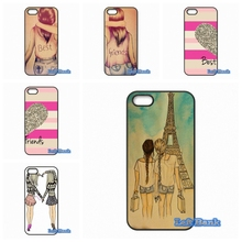 Happy Best Friend Card BFF Phone Cases Cover For Blackberry Z10 Q10 HTC Desire 816 820 One X S M7 M8 M9 A9 Plus(China)