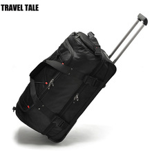 "Travel tale 22""30 Inch 2017 new large weekend bag big trolley travel bag 2 wheels bag(China)"