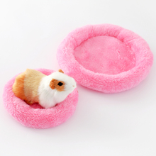 Soft Wool Guinea Pig Hamster Bed Winter Small Animal Cage Mat Hamster Rabbit Sleeping Bed Cute Pet Warm House Hot Sale(China)