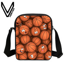 VEEVANV Brand 2017 Ball Image 3D Prints Bookbags Student Handbags Fashion Kids Messenger Bag New Patchwork Student Shoulder Bags