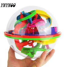 YNYNOO New 3D Puzzle Ball Maze Ball 138 Barriers Space Intellect Game Stages Kids boy girl Toy Gift Z13(China)