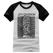 Euro style Joy Division T Shirts Men Unknown Pleasure Post Punk Gothic t shirt Rock And Roll Hot Man Tee O Neck 100% cotton Mens
