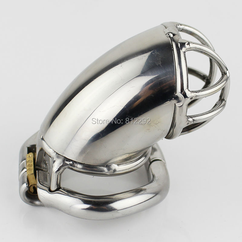 Latest Design 55mm Length Stainless Steel Super Small Male Chastity Cage Short Chastity Device Cock Cage Sex Toys
