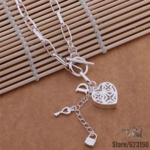 AN629 925 sterling silver Necklace, 925 silver fashion jewelry  Key necklace /iihaqzoa