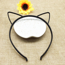 10pcs black cat ears head band fashion Lady Girl Hairband Sexy Self Headband Baby birthday party Hair Accessories for Women hoop(China)