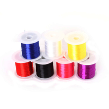 High Quality 8 Color 8m/roll flat pile mixing for crystal elastic cord bead stretch DIY Bracelet choker necklace Jewelry making